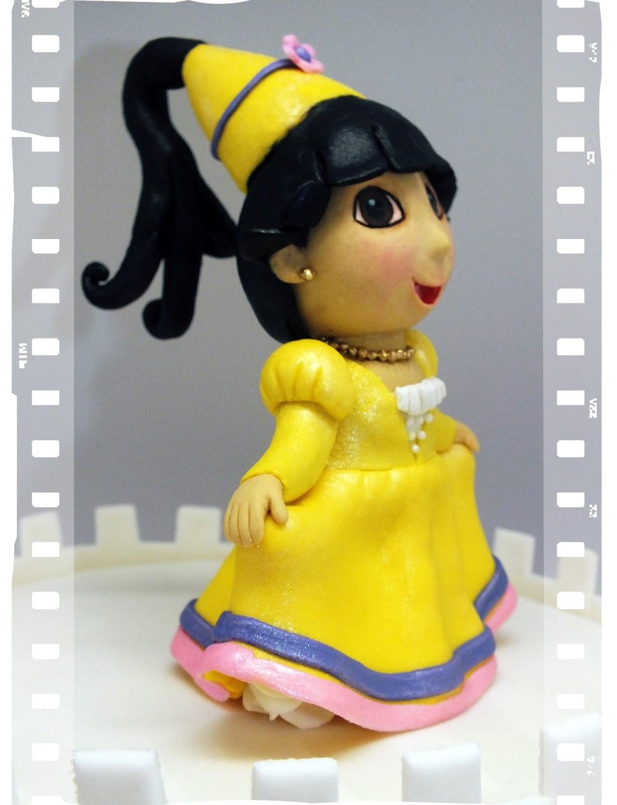 Pauline bakes the cake - Princesse dora ...