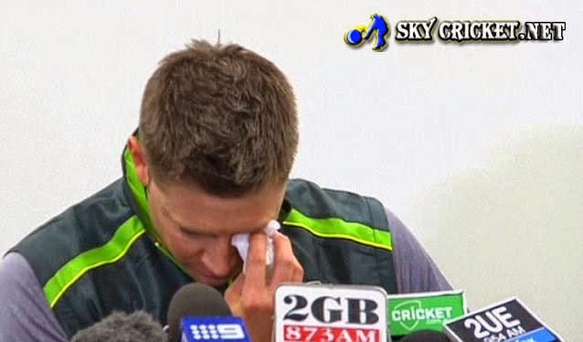 Michael Clarke expressed emotional tribute over the death of Phillips Hughes
