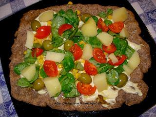 pizza veg estiva e colorata
