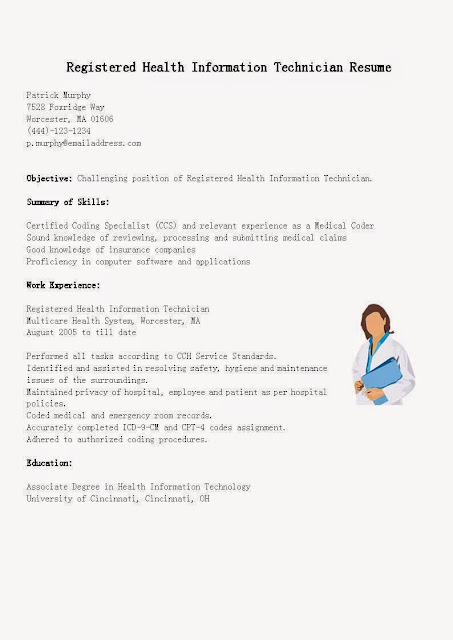 Resume samples registered health information technician resume sa