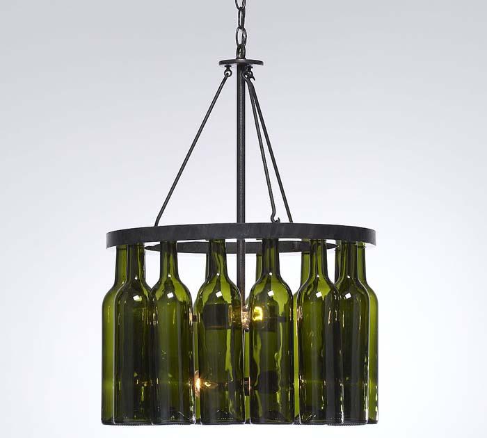 Little pink apples wine bottle chandelier - Wine bottle light fixture chandelier ...