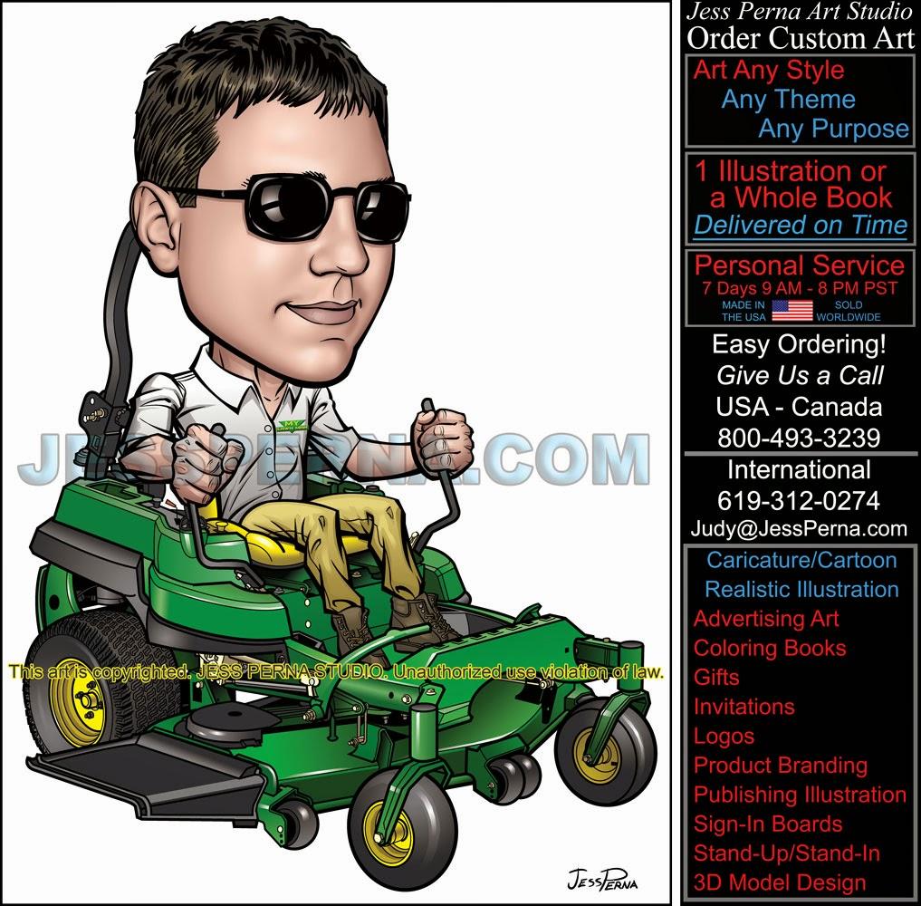 ad caricature gardener lawn service company truck wrap ad caricature gardener lawn service company truck wrap