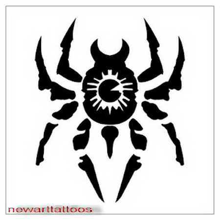 spider tribal tattoos new art tattoos. Black Bedroom Furniture Sets. Home Design Ideas