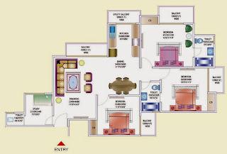 Amrapali Zodiac :: Floor Plan