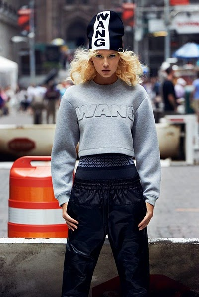 H&M x Alexander Wang 2014 AW Grey Short Scuba Top