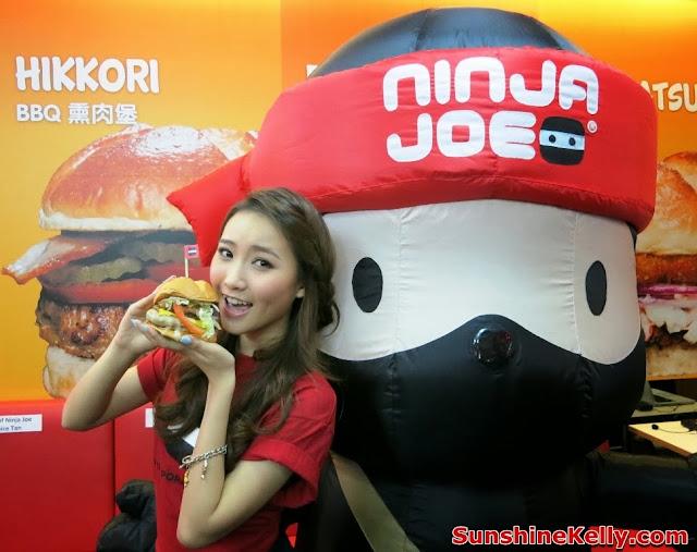 Ninja Joe New Burgers, Ninja Cam Mobile App, Ke Qing Ninja Joe Ambassador, burger