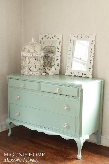 Azure by Benjamin Moore - painted dresser
