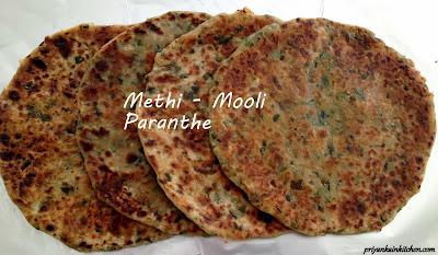 Fenugreek Radish Parantha