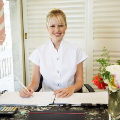 hair salon receptionist