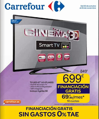 carrefour financiacion gratis nov. 2013