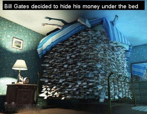 When Bill Gates Decided To Hide His Money Under The Bed