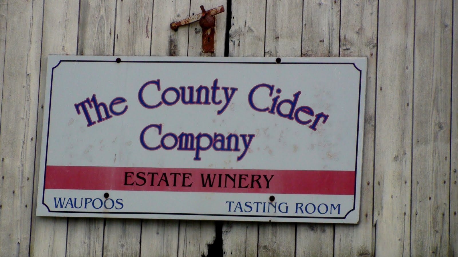 The County Cider Company sign