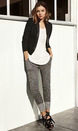 moda mujer primavera 2014 Miranda Kerr americana pantalones