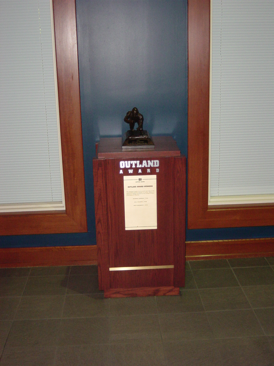 Outland Trophy Notre Dame