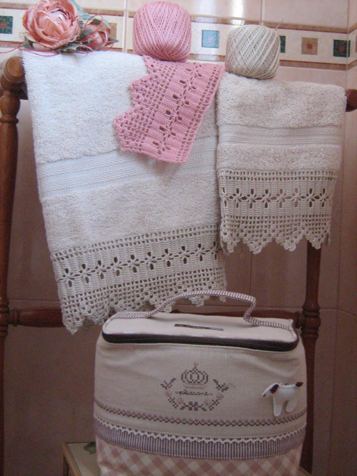 Semplicemente ketti asciugamani con bordure for Bordi uncinetto per asciugamani