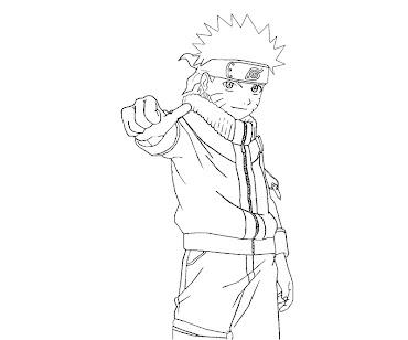 #3 Naruto Coloring Page