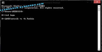 Sembunyikan File rahasia dengan CMD