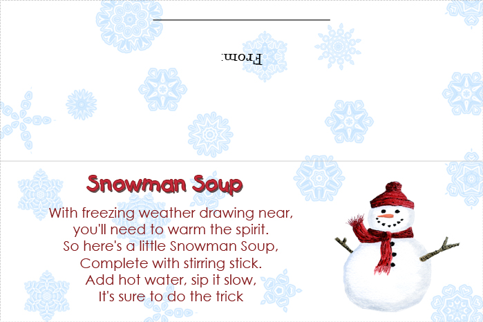 Snowman Soup Recipe And Poem Printable | Search Results | Calendar ...