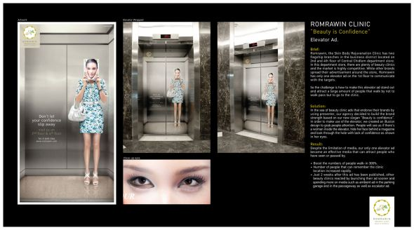 Romrawin Clinic Beauty is Confidence Top 27 Creative Elevator Advertisements