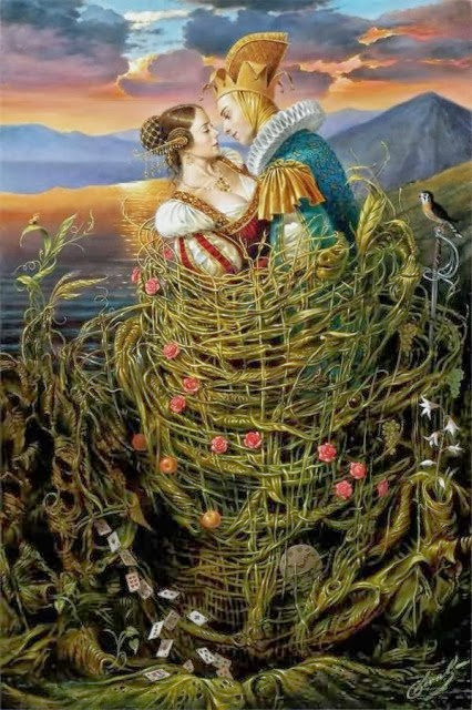 Michael Cheval. Beso cuento.