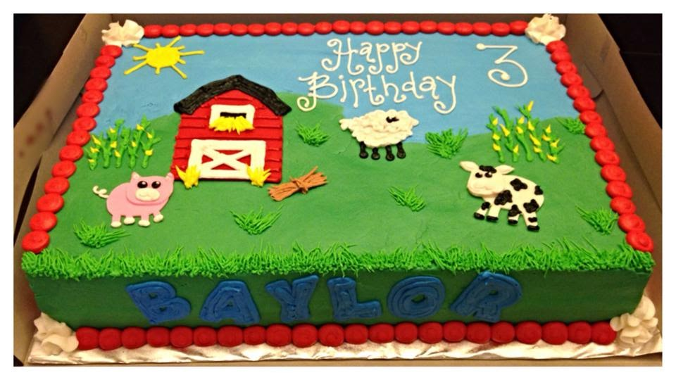 Barnyard Sheet Cakes