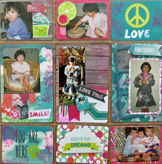 You're So Sweet Misc. Me by Lynn Shokoples for BoBunny featuring the Forever Young Collection and Stained Textures Stamp Set