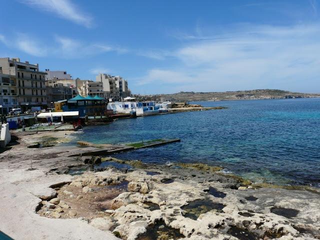 Plaża w Bugibbie, Malta
