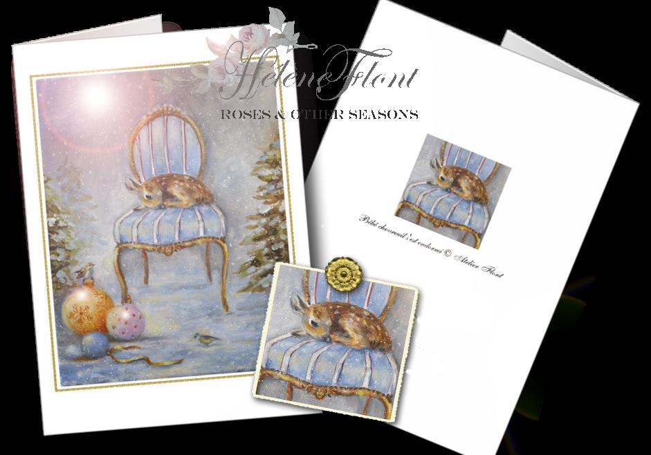 http://www.zazzle.fr/seasons_greetings_card_sleeping_baby_deer_carte-137913039149760625