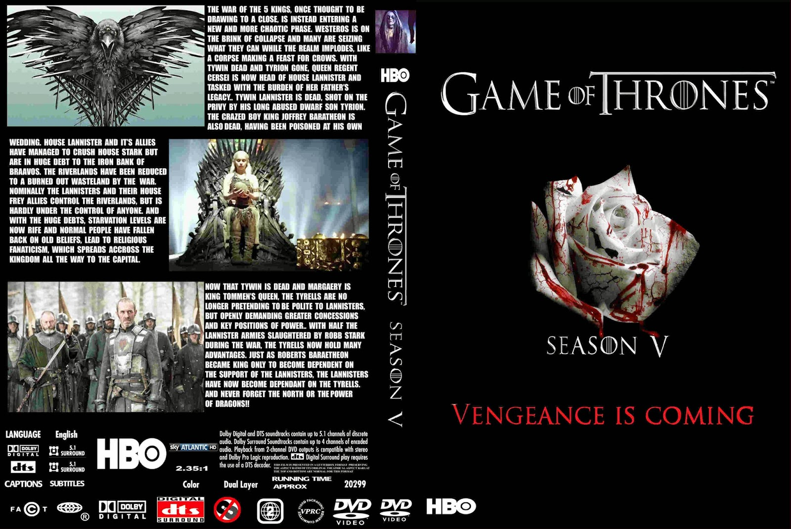 game of thrones season 3 dvd cover. Black Bedroom Furniture Sets. Home Design Ideas