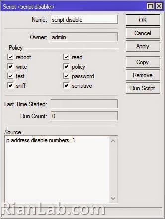 script disable