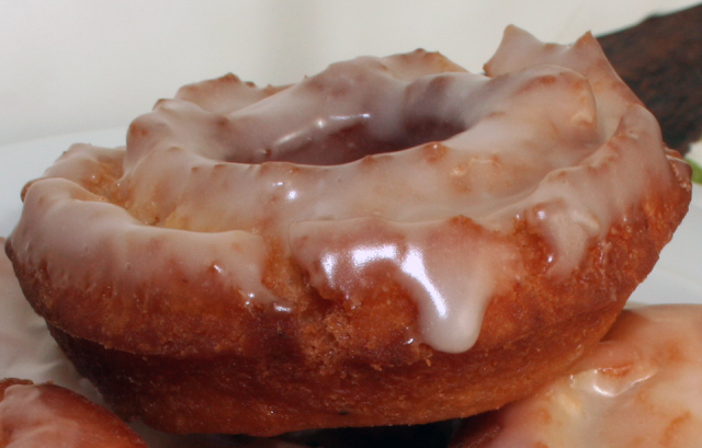 Glazed old fashioned rings and holes