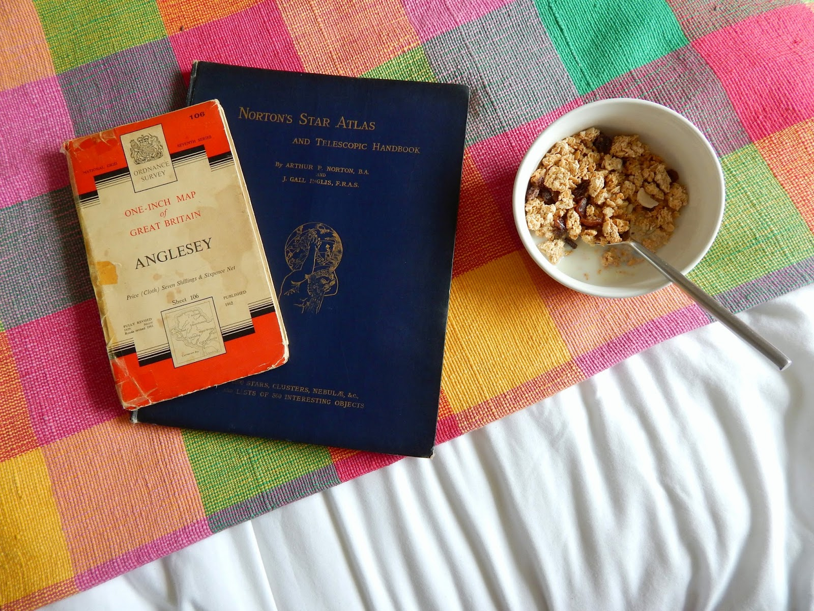 Blanket, Cereal, Astrology Book, Map
