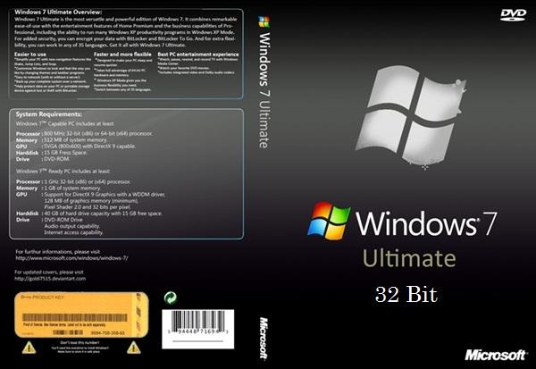 crack windows 7 ultimate 32 bit sp1
