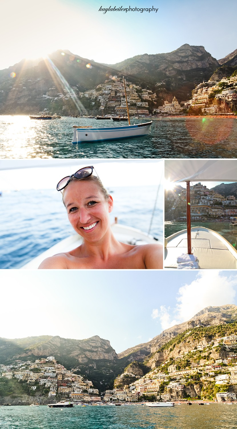 boating in positano photo