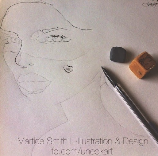 work in progress by artist Martice Smith II