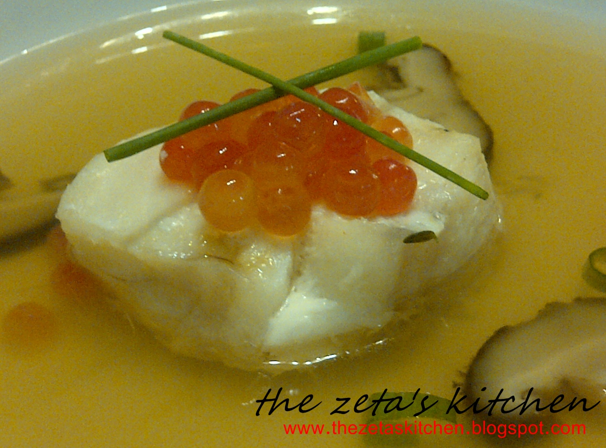 The zeta 39 s kitchen extravaganza cod poached cod in fish for Cod fish in chinese