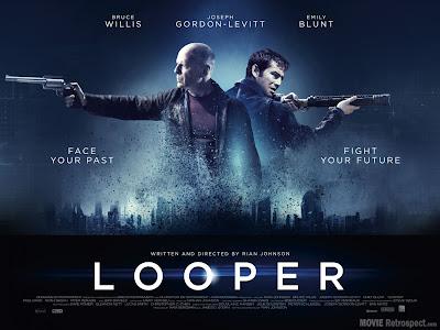 Looper with Bruce Willis and Joseph Gordon-Levitt - Movie Poster