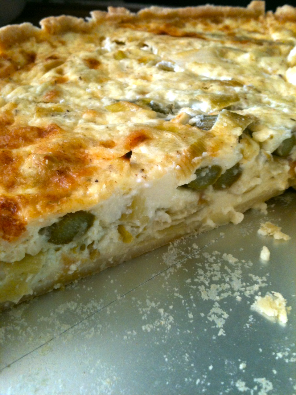 Asparagus, leek and gruyere quiche | Lesley's Kitchen, Artisan ...