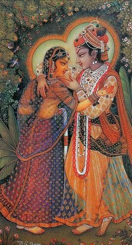 hare krishna radha painting