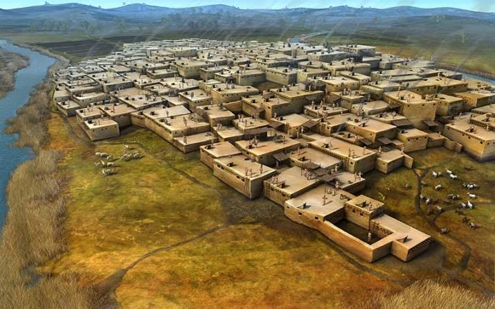 Resultado de imagen de neolitico casas de adobe