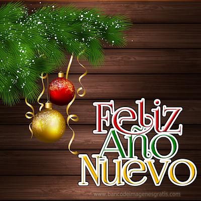 Ilustraciones con mensajes de Año Nuevo