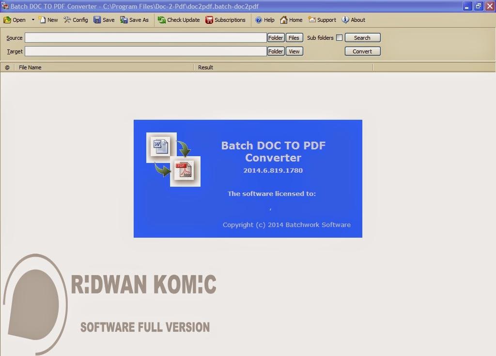 Batch DOC TO PDF Converter 2014.6.819.1780 + Crack adalah versi terbaru dan