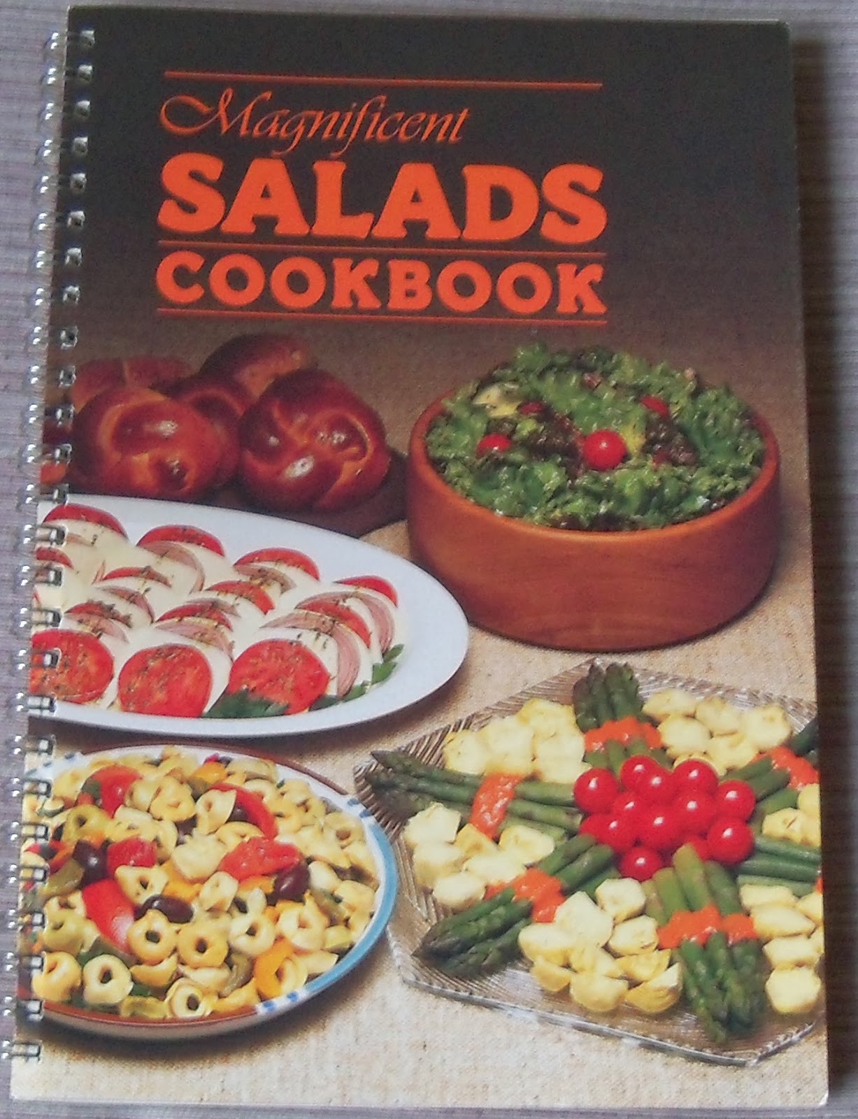 That lefty food blog the magnificent salads cookbook 1988 with bean the magnificent salads cookbook 1988 with bean salad layered taco salad forumfinder Images