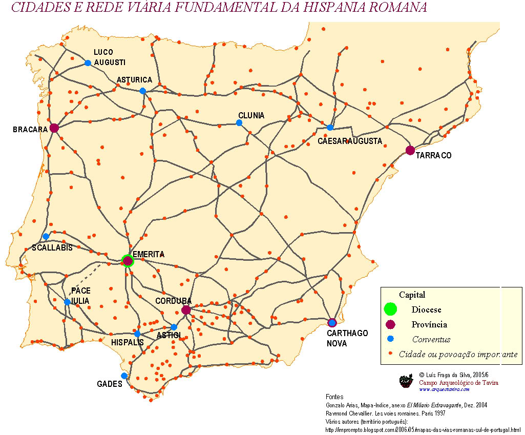 Ciudades y red vi 225 ria principal de la hispania romana