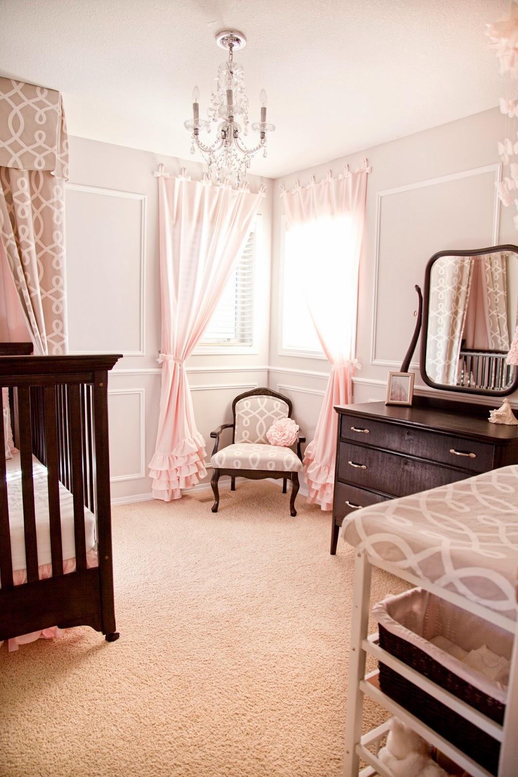D i y d e s i g n diy nursery in pink grey for Baby room wall ideas