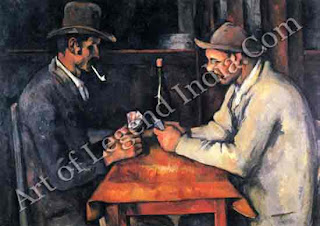 "The Great Artist Paul Cezanne ""The Card Players"" 1890-1892 22 ¼"" x 27"" Courtauld Institute Galleries, London"