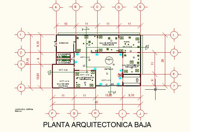Proceso de dise o de un museo etnografico de oaxaca for Ejes arquitectonicos