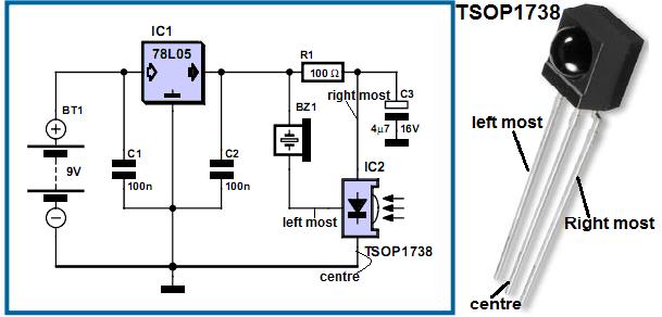 Astonishing Project Theory Infrared Radiation Detector Circuit Schemtics Theory Wiring Database Apannorabwedabyuccorg