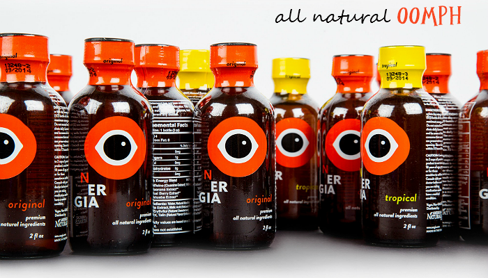 NERGIA Natural Energy Drink Shot With Guarana