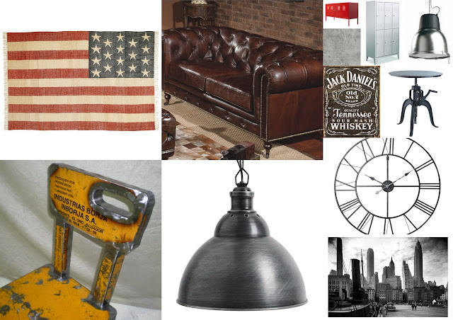 Not the same old stuff industrial for men only o for Lampade industriali ikea